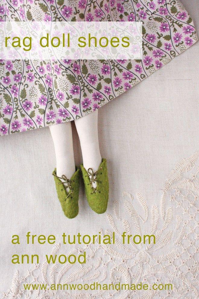 easy to make rag doll shoes : a free tutorial