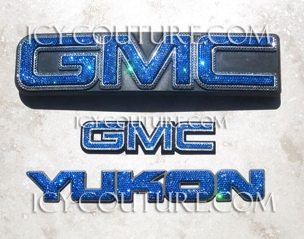 Bedazzled Crystal Gmc Emblem Most Models Gmc Emblems Truck Yeah