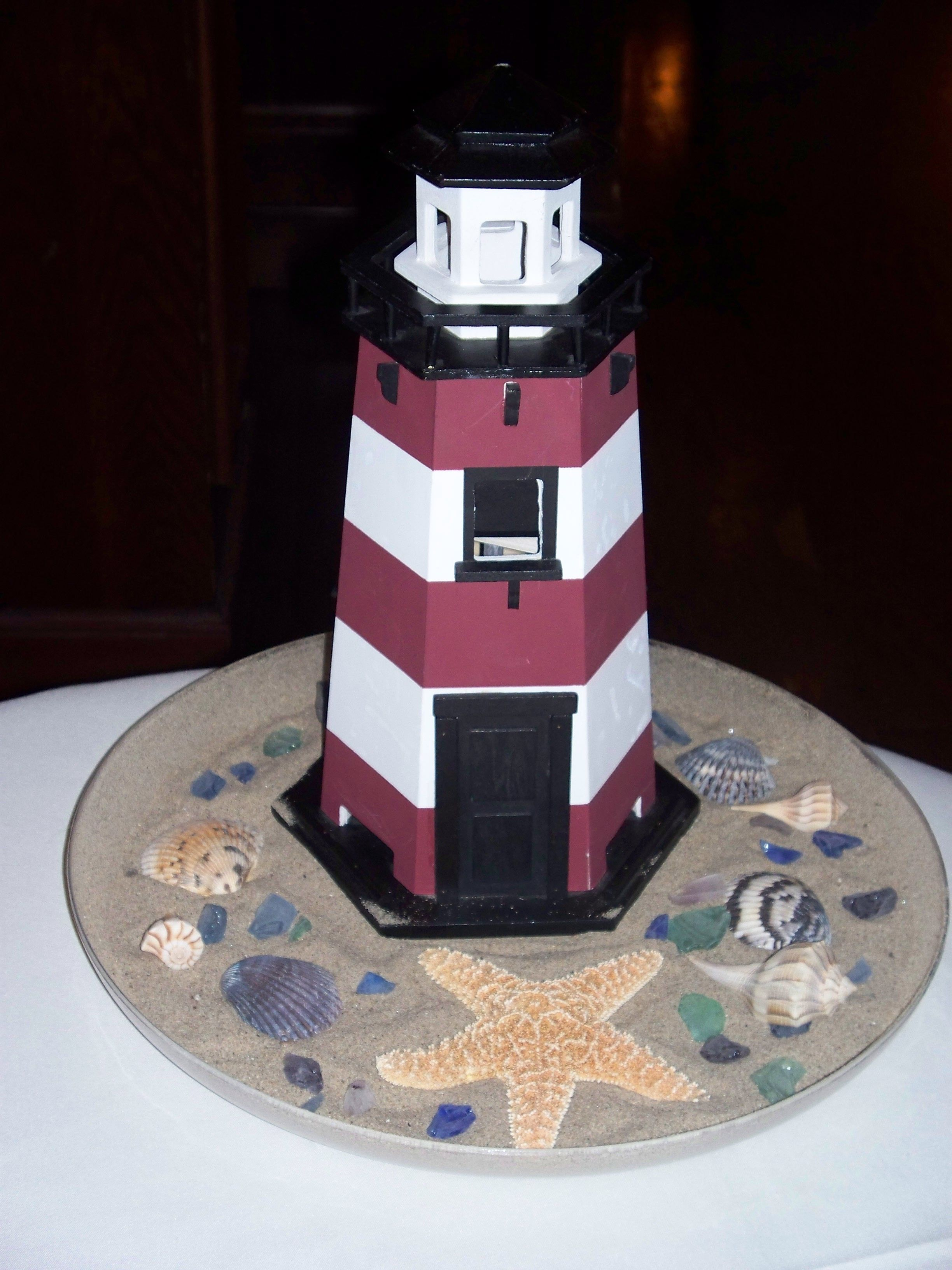 Simple Lighthouse Centerpiece Centerpieces Table