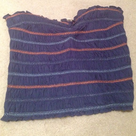 Aerie tube top Aerie tube top size small. Excellent condition never worn! Navy with redish and light blue. Perfect for 4th of July! aerie Tops