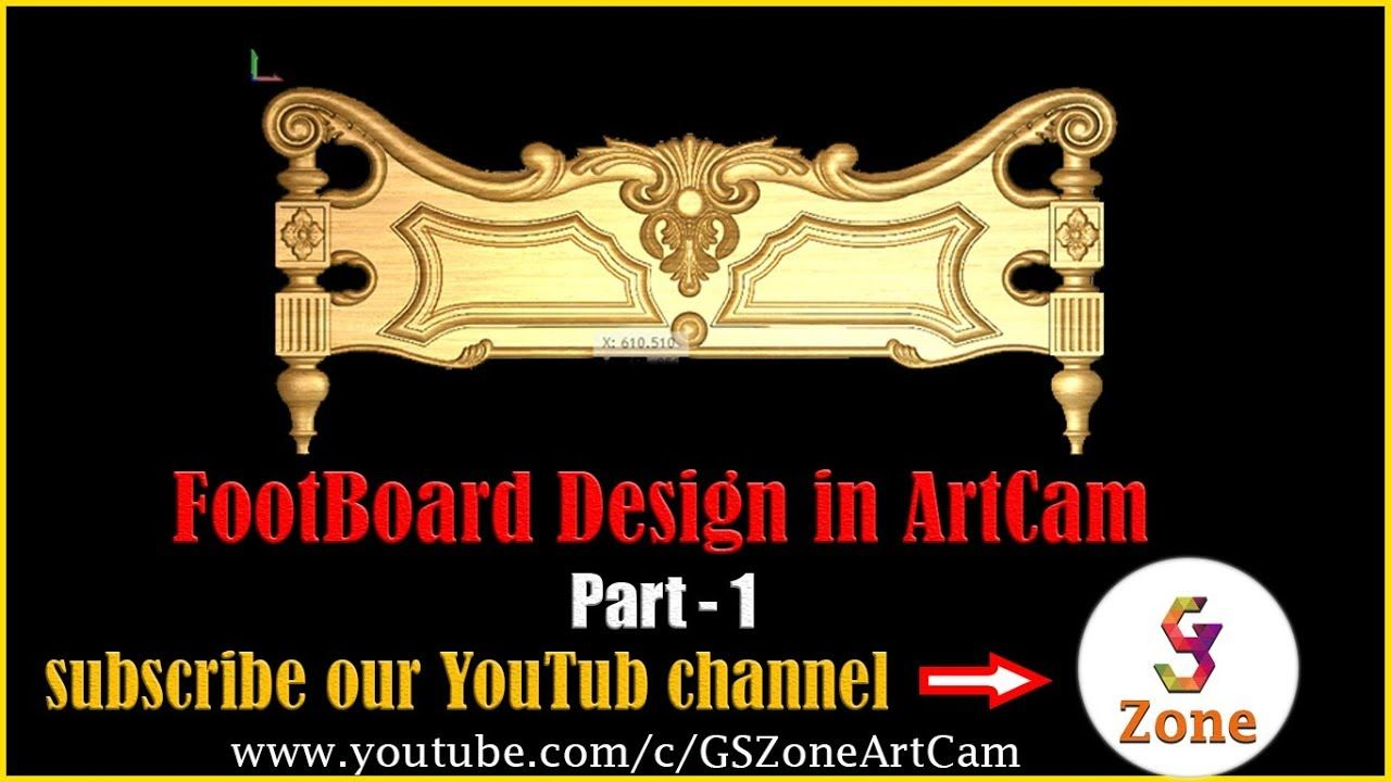 How to make a carving bed foot board part artcam