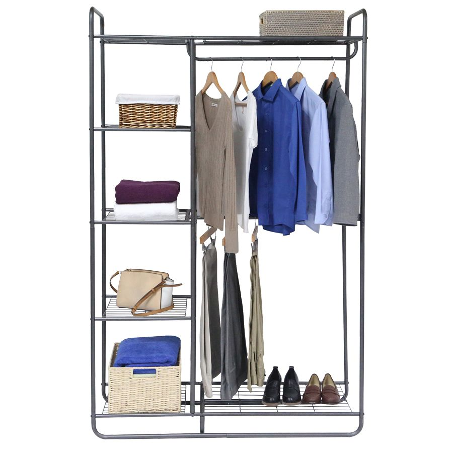 Steel Clothing Rack At Lowes Com Clothing Rack Free Standing