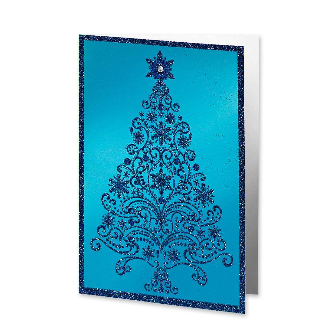 UNICEF Market | Glittering Xmas Tree UNICEF Greeting Cards (Set of ...