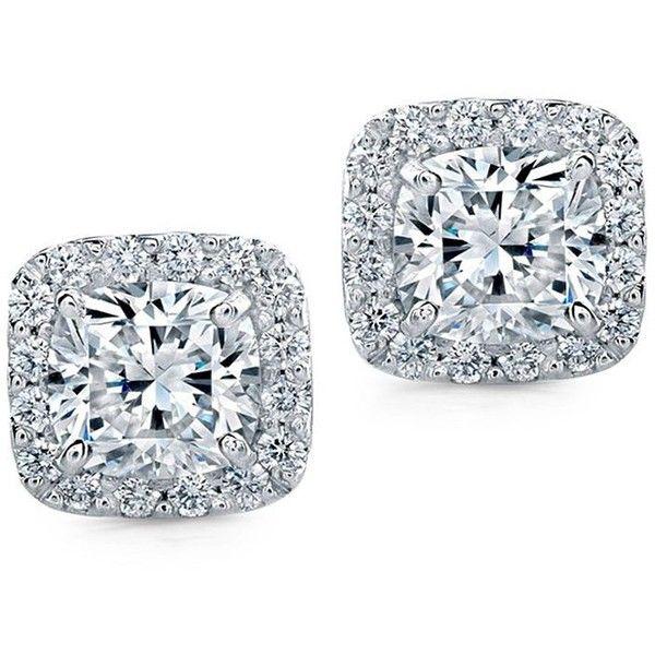 Diana M. Jewels 18k Square Diamond Stud Earrings eMdlBHTsVB