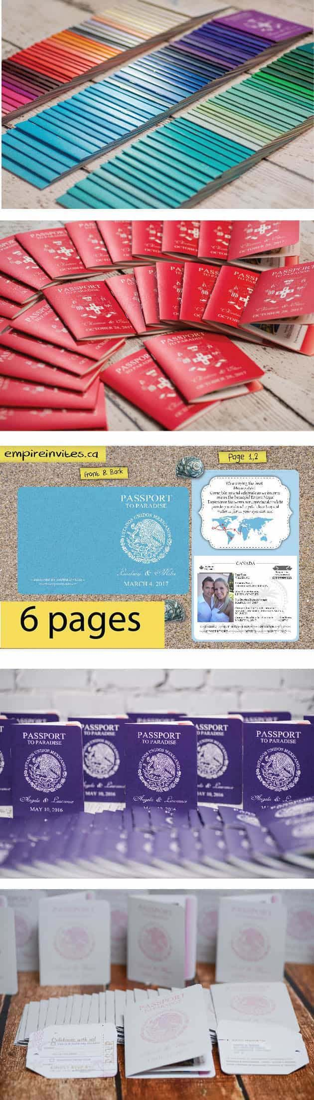 Unique Passport Wedding Invitations Canada Photos - Invitation Card ...