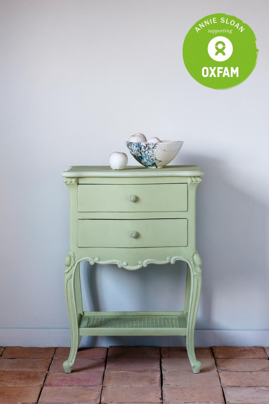 A side table painted in the new