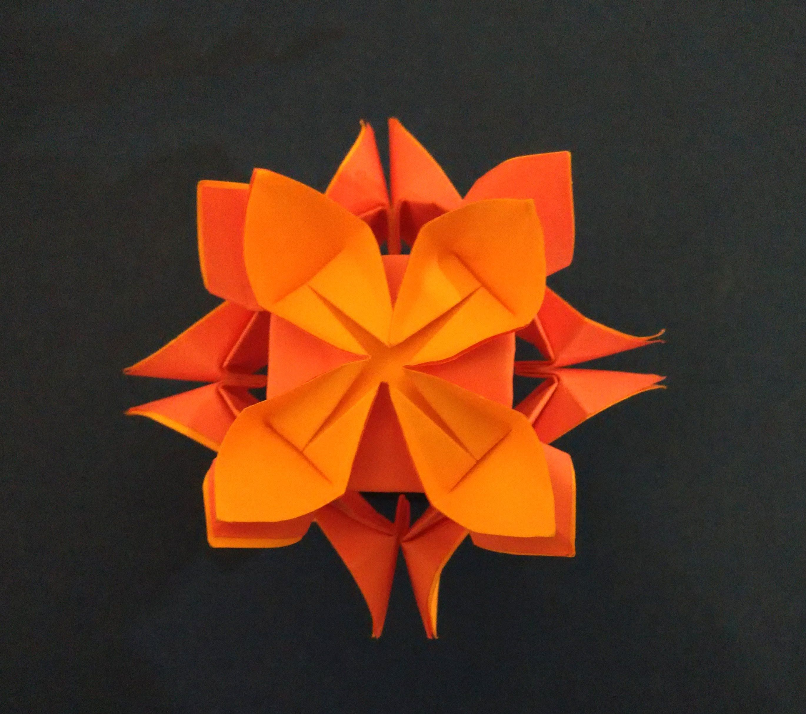 Easy Kusudama Tutorial Lotus Flower Ideas For Woman S Day House Decor Origami Quilt Easy Origami Flower Origami And Quilling