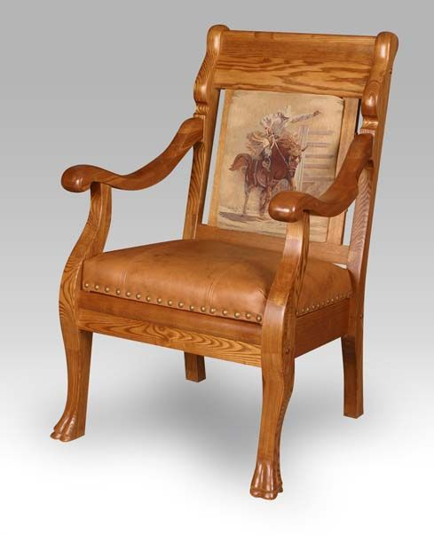 Western Vintage Cowboy Chair Country Western Furniture | Furniture ...