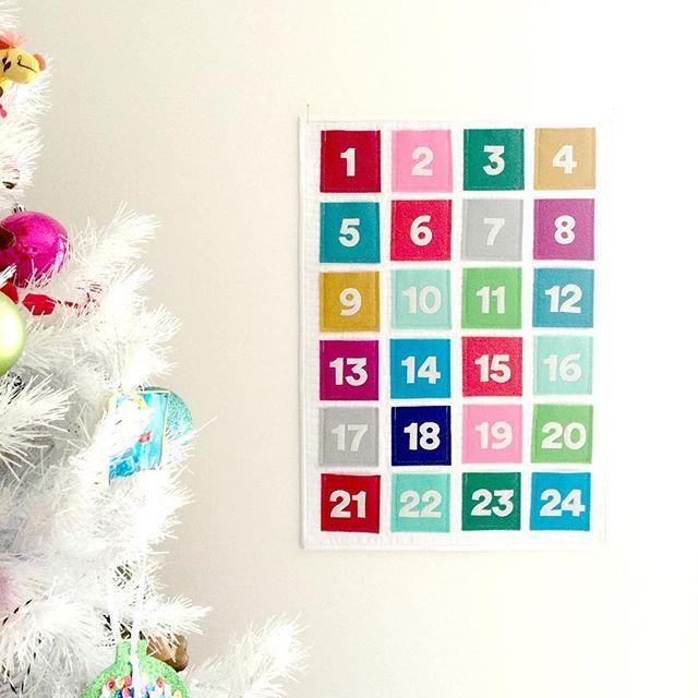 December is here! We\u0027re loving this felt advent calendar by Nicole