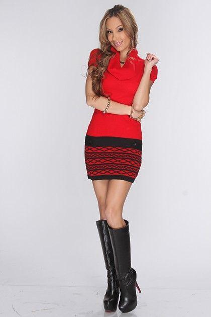 hitapr.com red sweater dresses (18) #reddresses | Dresses & Skirts ...