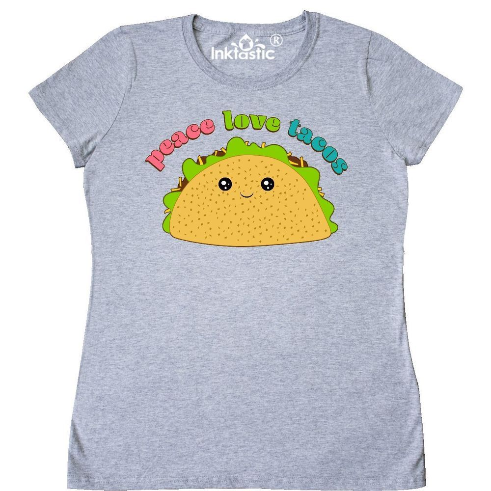feec9f2a Inktastic Peace Love Tacos Women's T-Shirt Food Humor Mexican Taco Bell  Cute #fashion #clothing #shoes #accessories #womensclothing #tops (ebay  link)