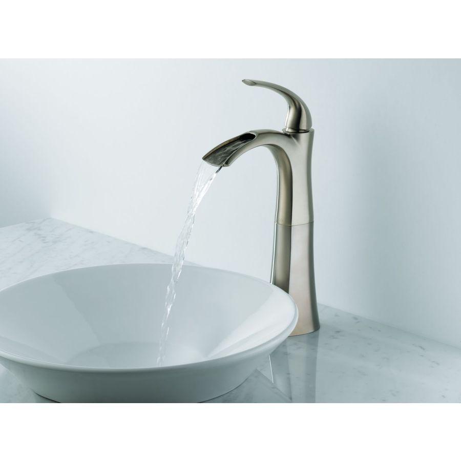 Shop Delta Nyla Stainless 1-Handle Vessel WaterSense Bathroom Sink ...