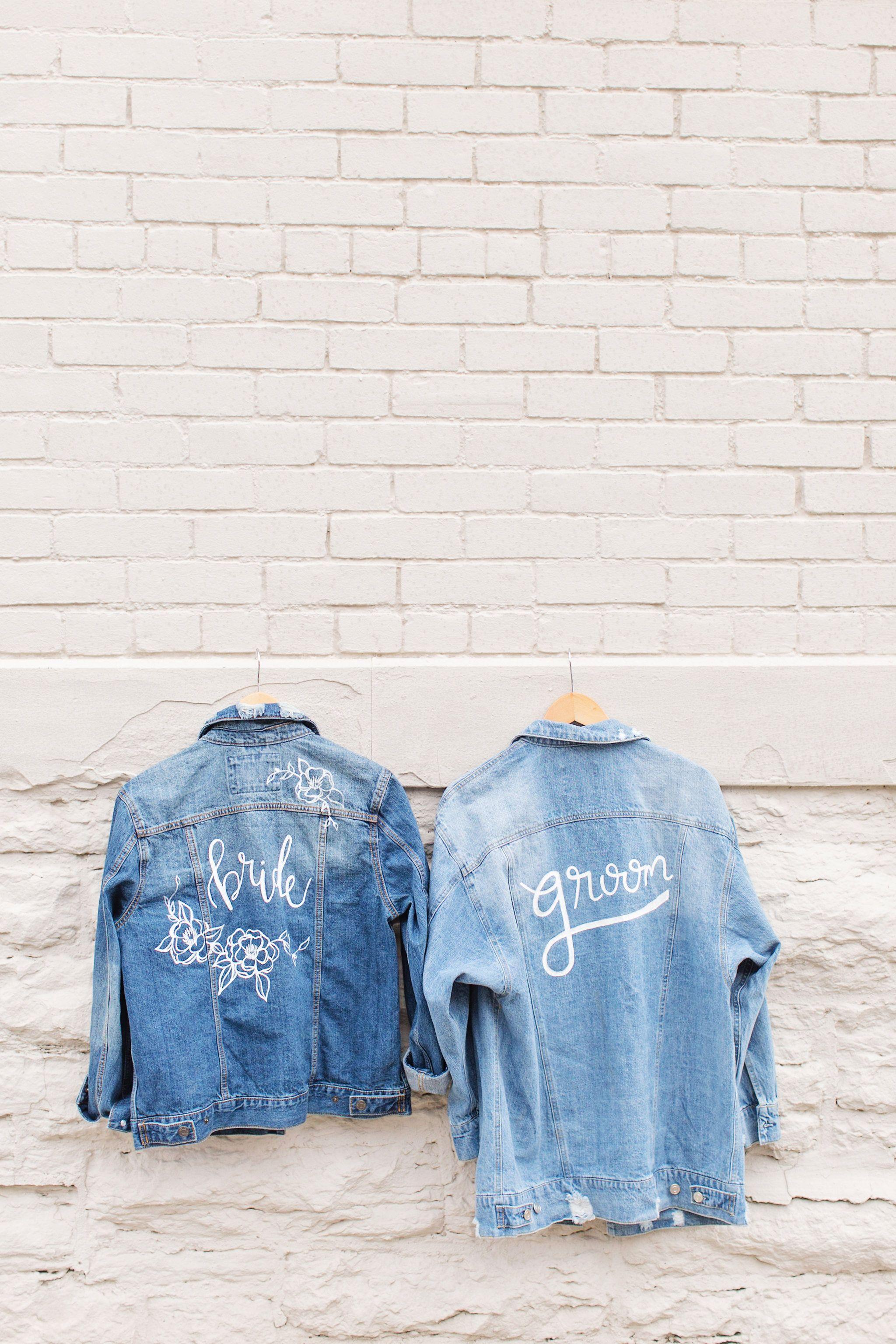 Painted jean jackets for a boho wedding bohowedding