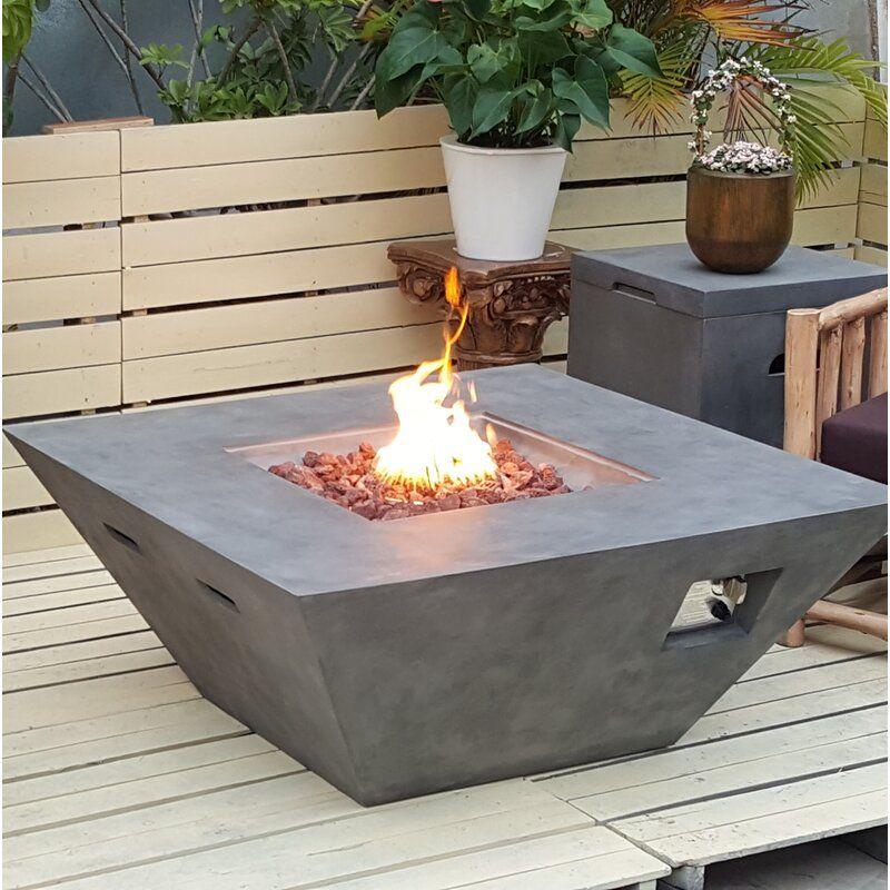 Teva Furniture Luxor Concrete Propane Fire Pit Table Wayfair