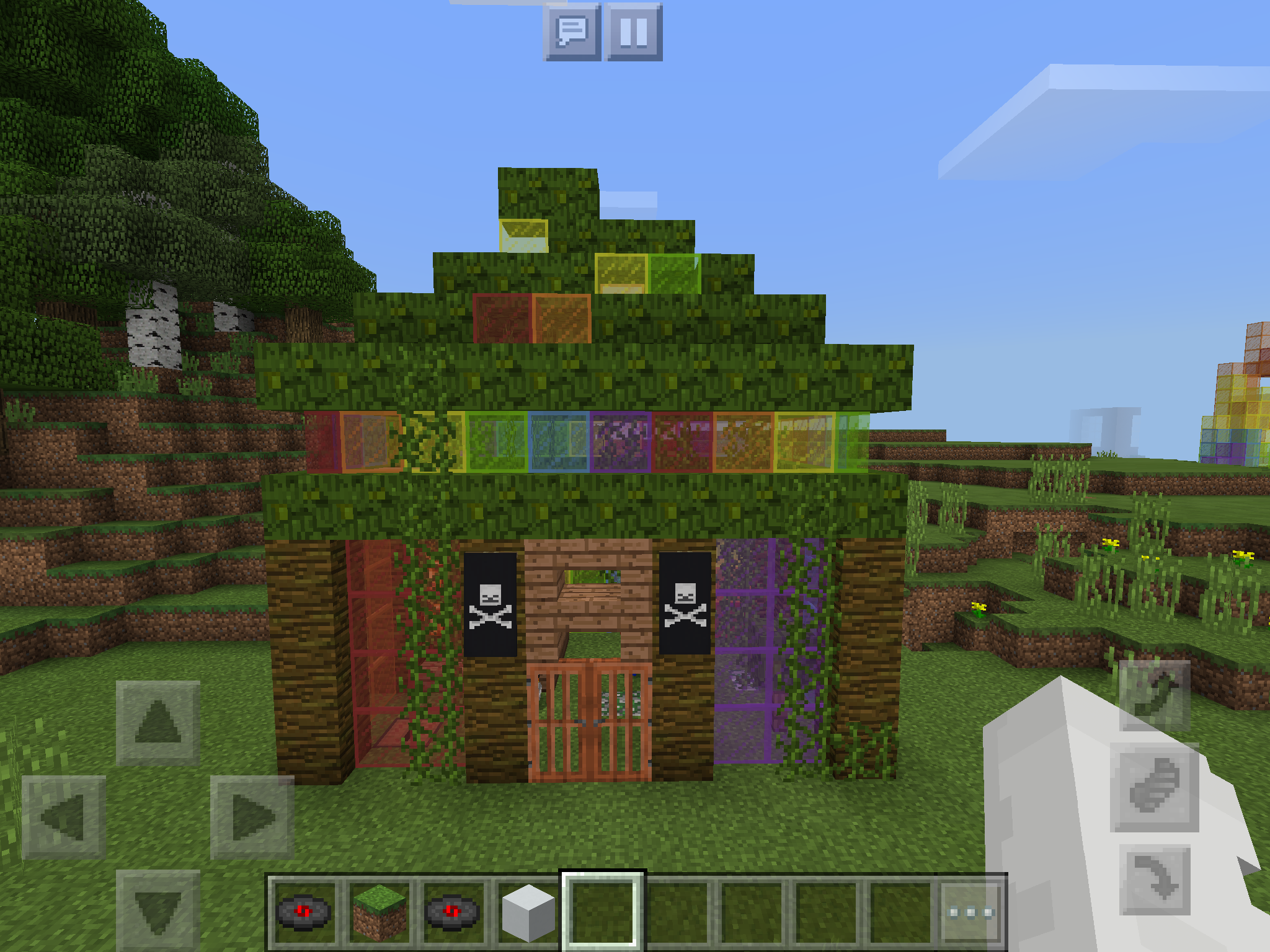 Minecraft Parrot house  rainbow jungle theme    minecraft