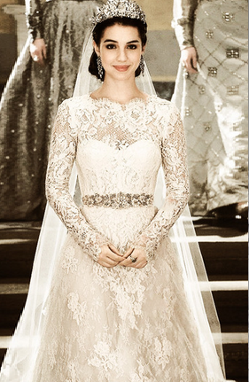 "mary, queen of scots wedding gown on the set of ""reign"" 