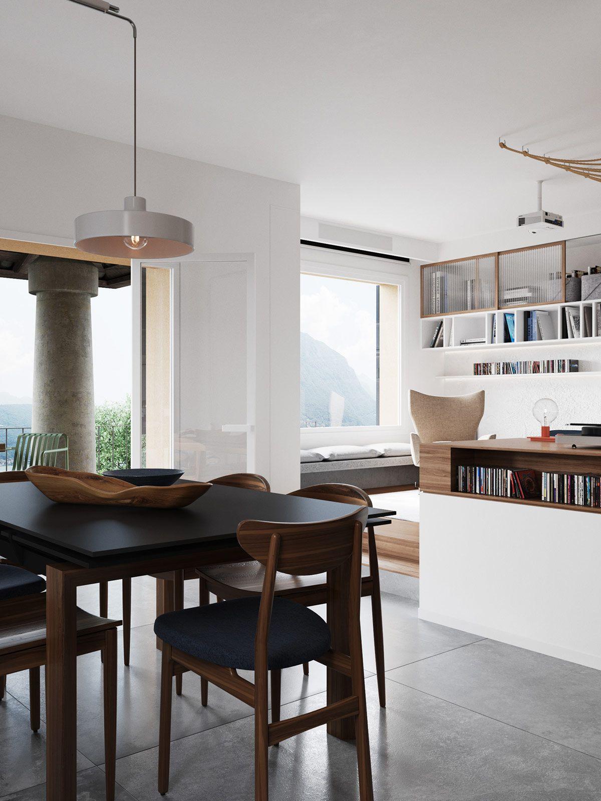 Beach House Minimalism Room interior design, Lake house