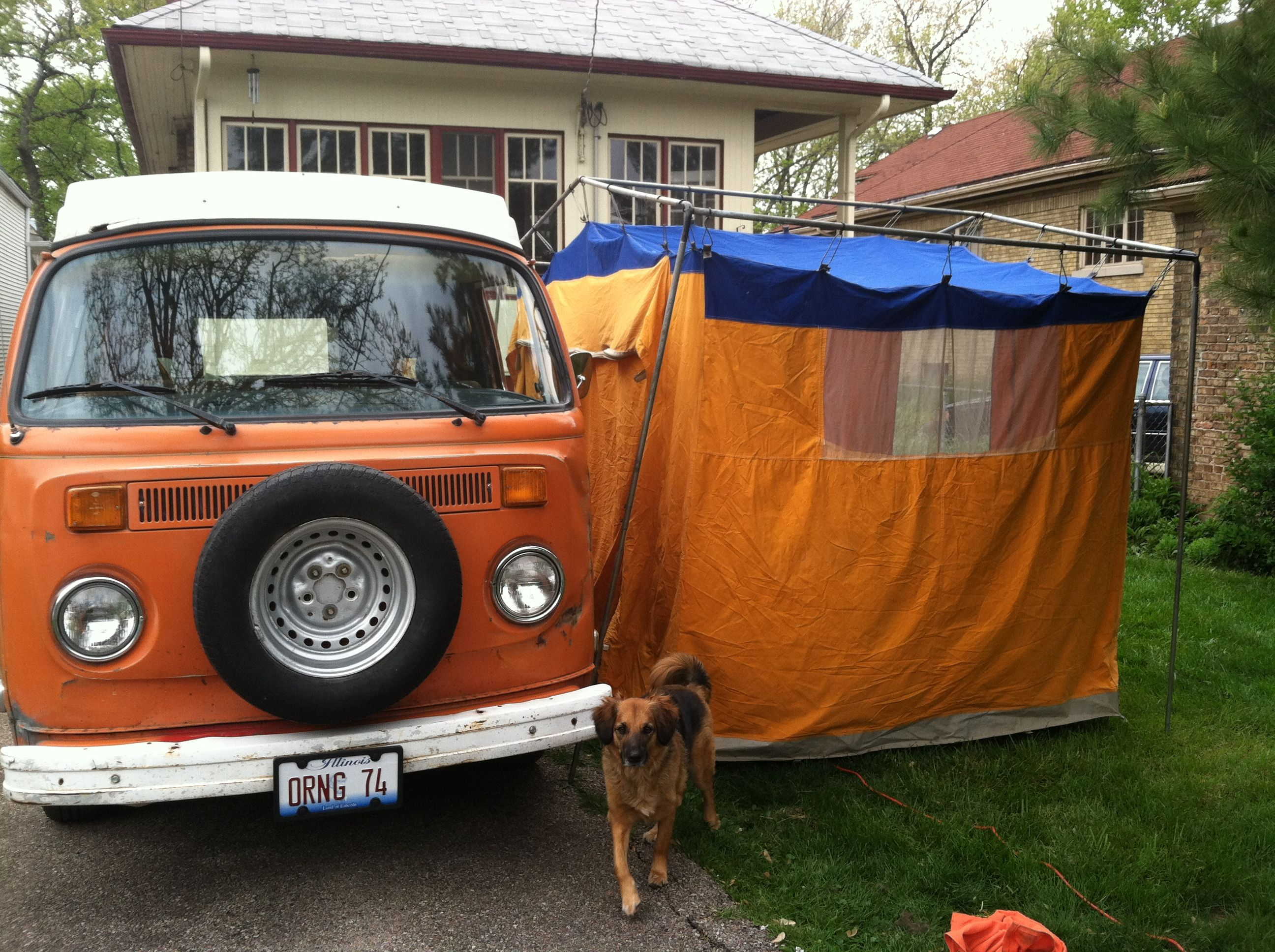 Side tent for 1974 VW bus