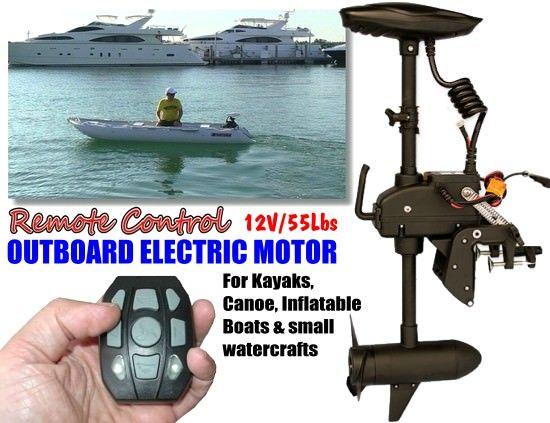 55 Lbs Remote Control Electric Trolling Motor 12V | Kayak