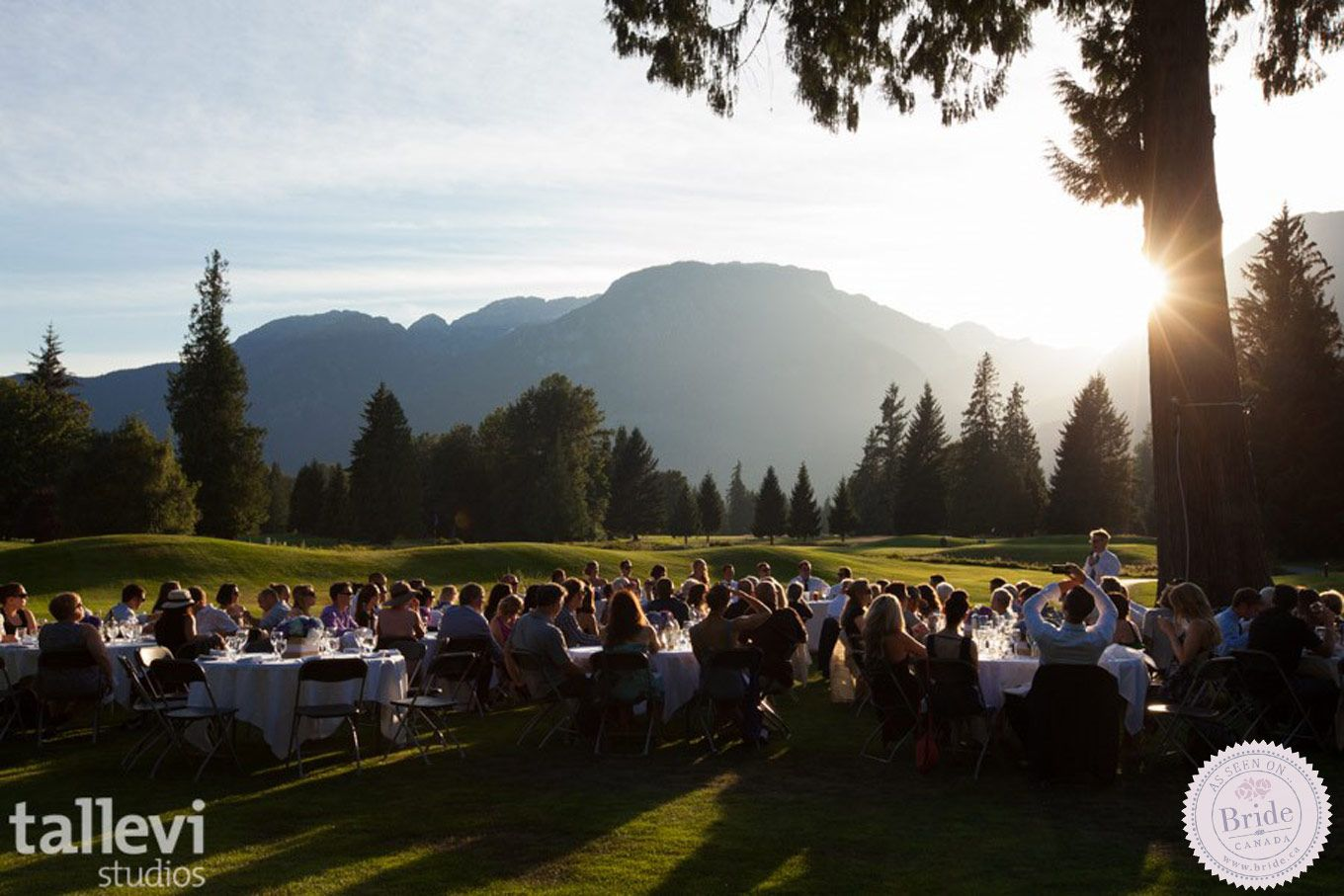 Outdoor Reception Venue The Sunsets Are Truly Spectacular At Squamish Valley Golf Club Photo