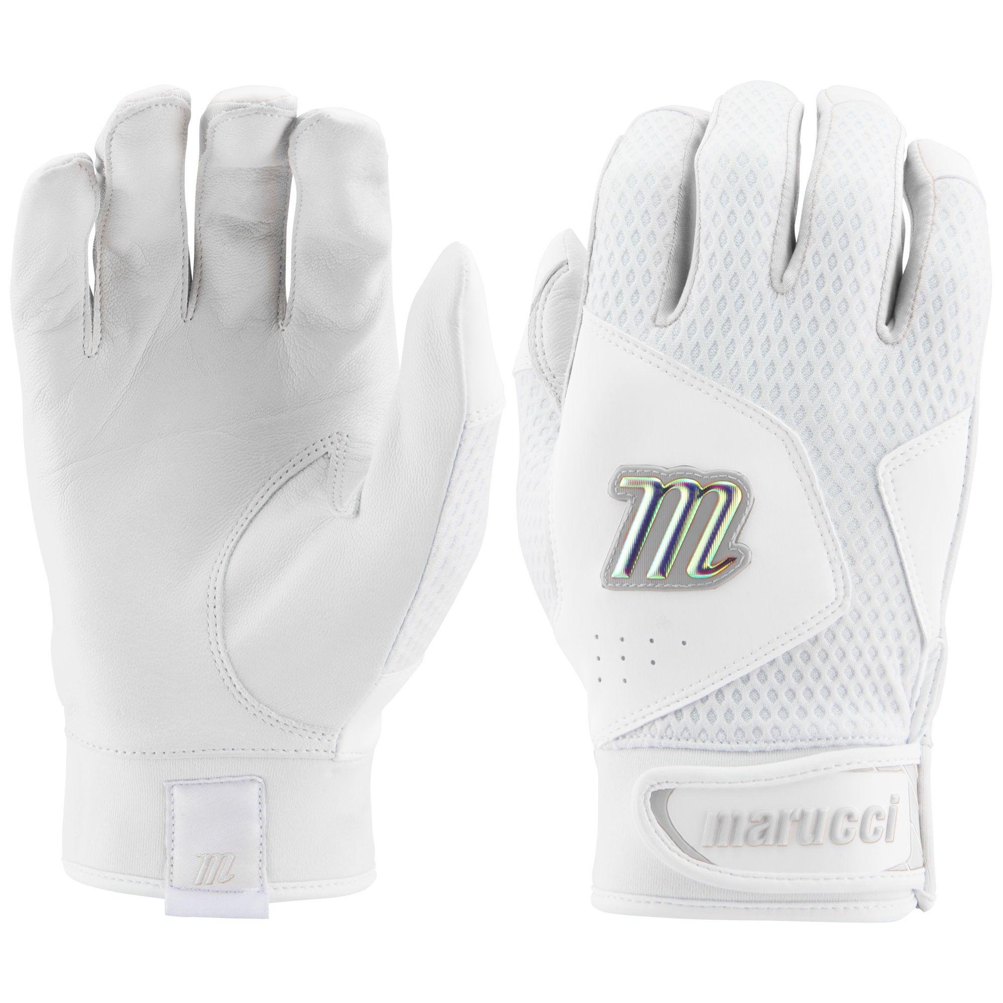 NEW Marucci Quest 2.0 Senior Baseball Batting Gloves Black