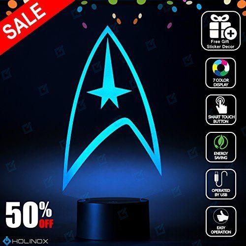 Star Trek Lighting Decor Gadget Lamp + Sticker Decor for ...