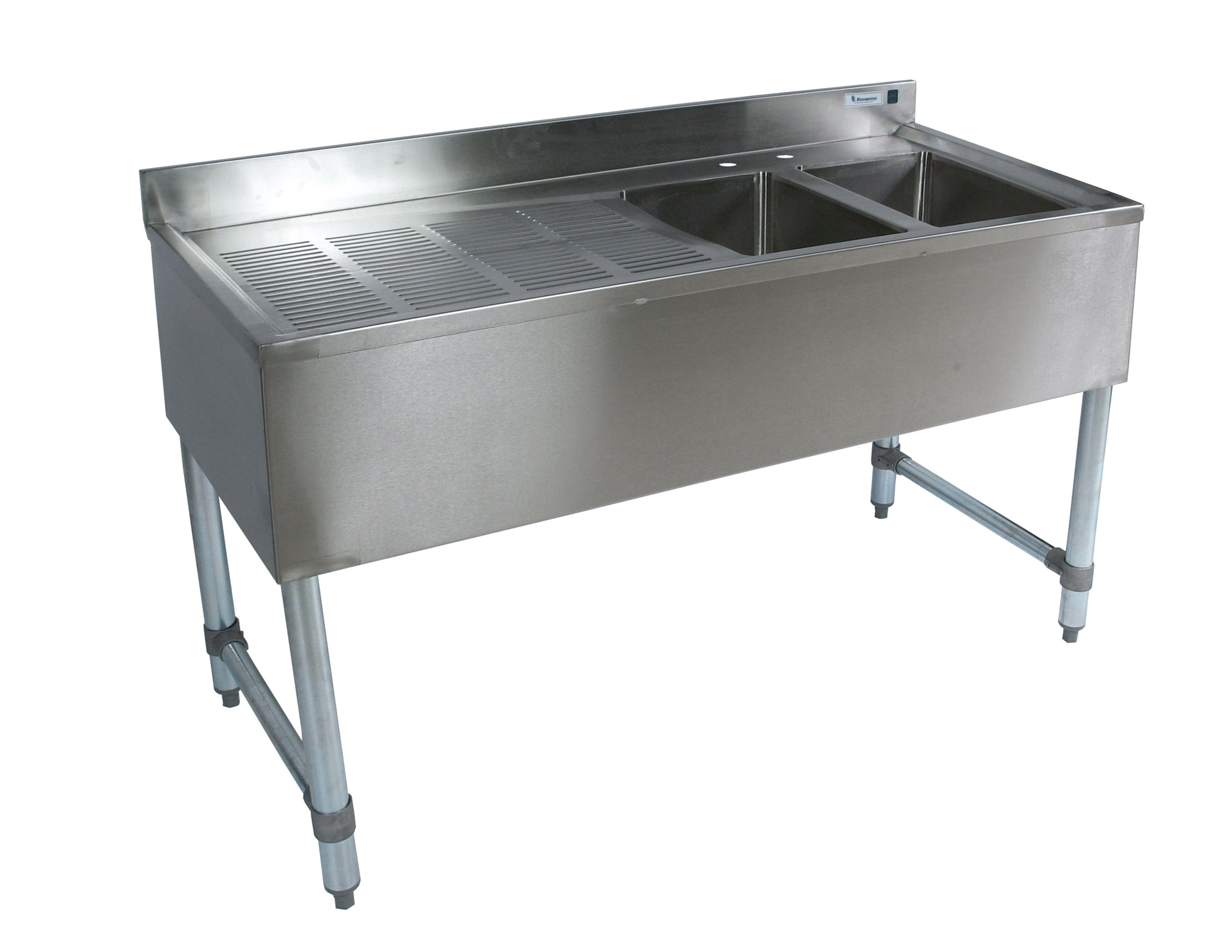 Quality mercial Kitchen Equipment 2 partment Stainless 48