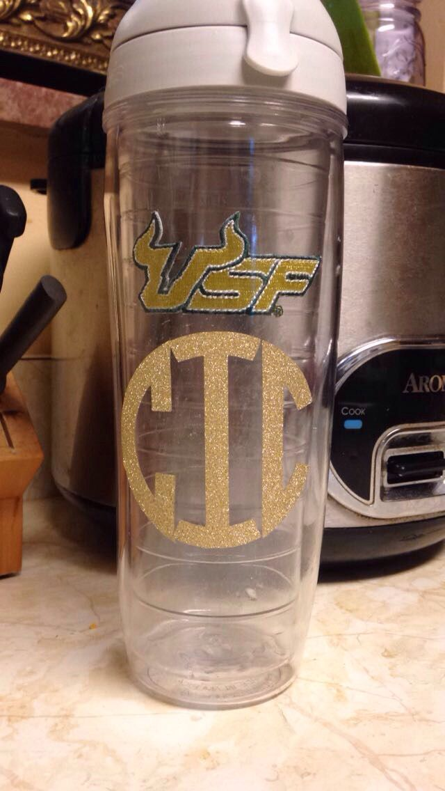 Diy monogram tumbler decal