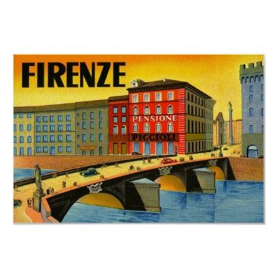 Firenze Italia ~ Vintage Florence Italy Travel Print by TheVintageVamp