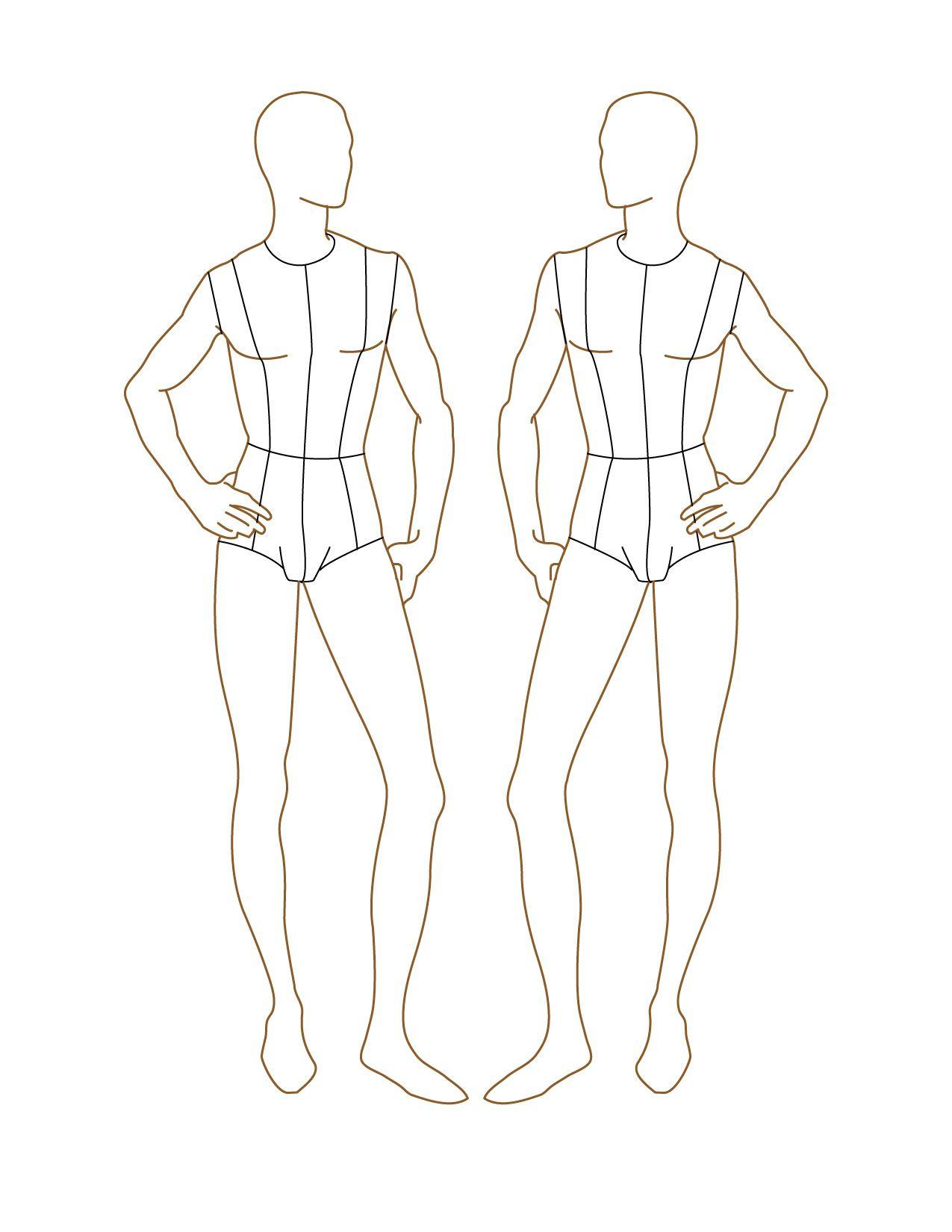 Croqui Fashion Model Templates | Male Fashion Croquis | Fashion ...