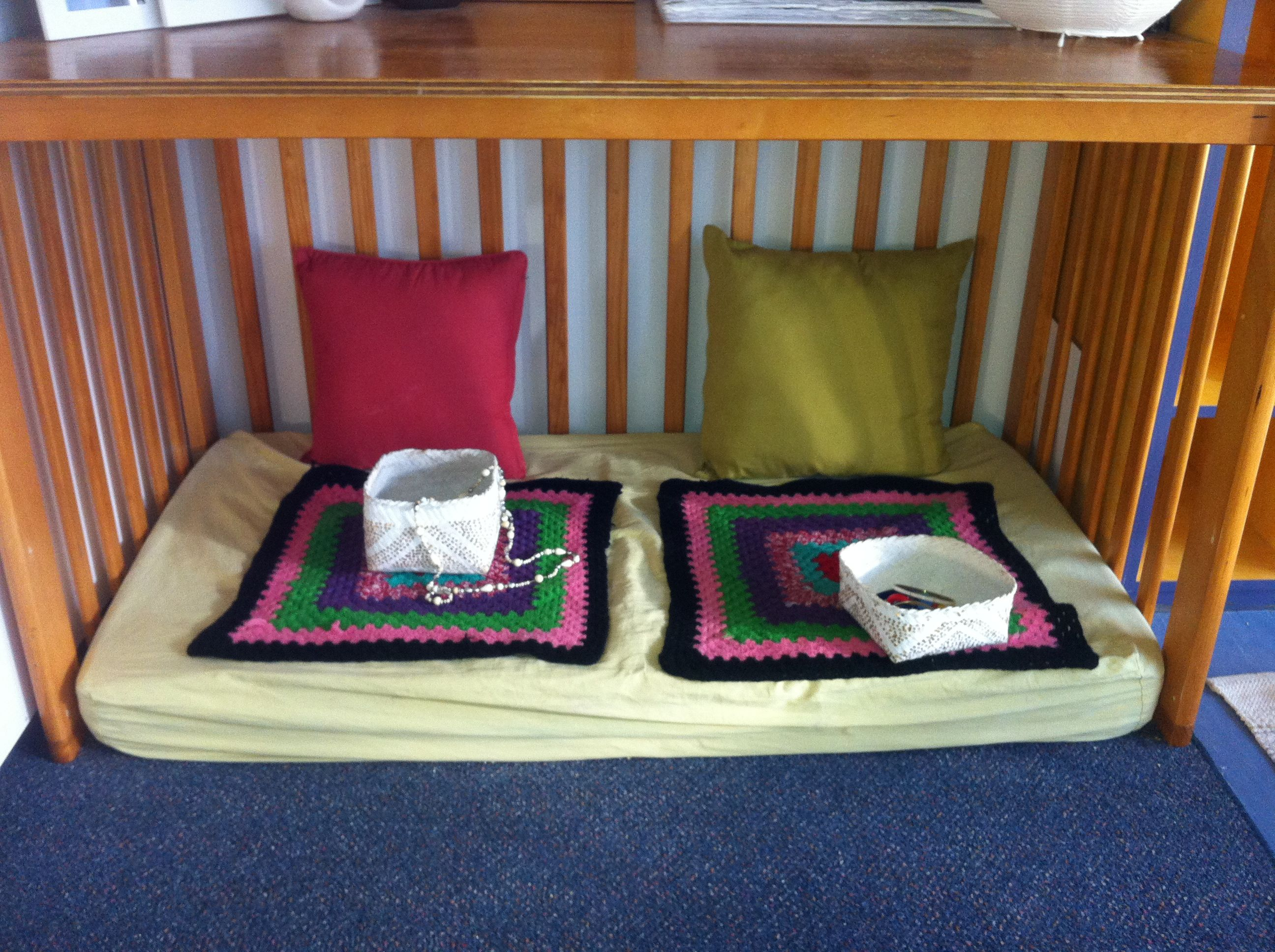 Re Purposed Cot  A Small Space For Two