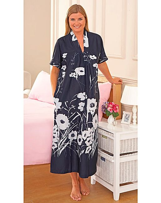Beautiful Short Sleeve Satin Style Ladies Kaftans Zip Front One Size Fits All