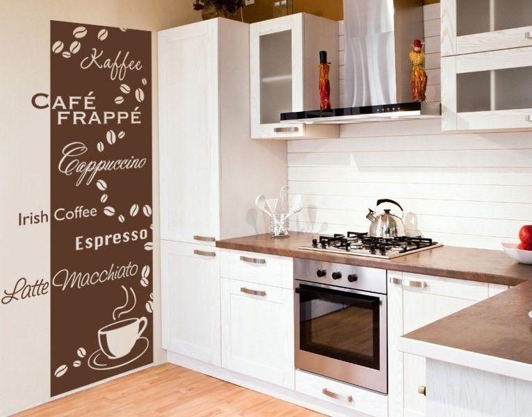 Wandtattoo-Tapete Kaffeesorten Online, Kueche and Tees - wandtattoos küche kaffee
