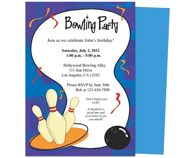 free printable bowling party invitations - Google Search Party - birthday celebration invitation template