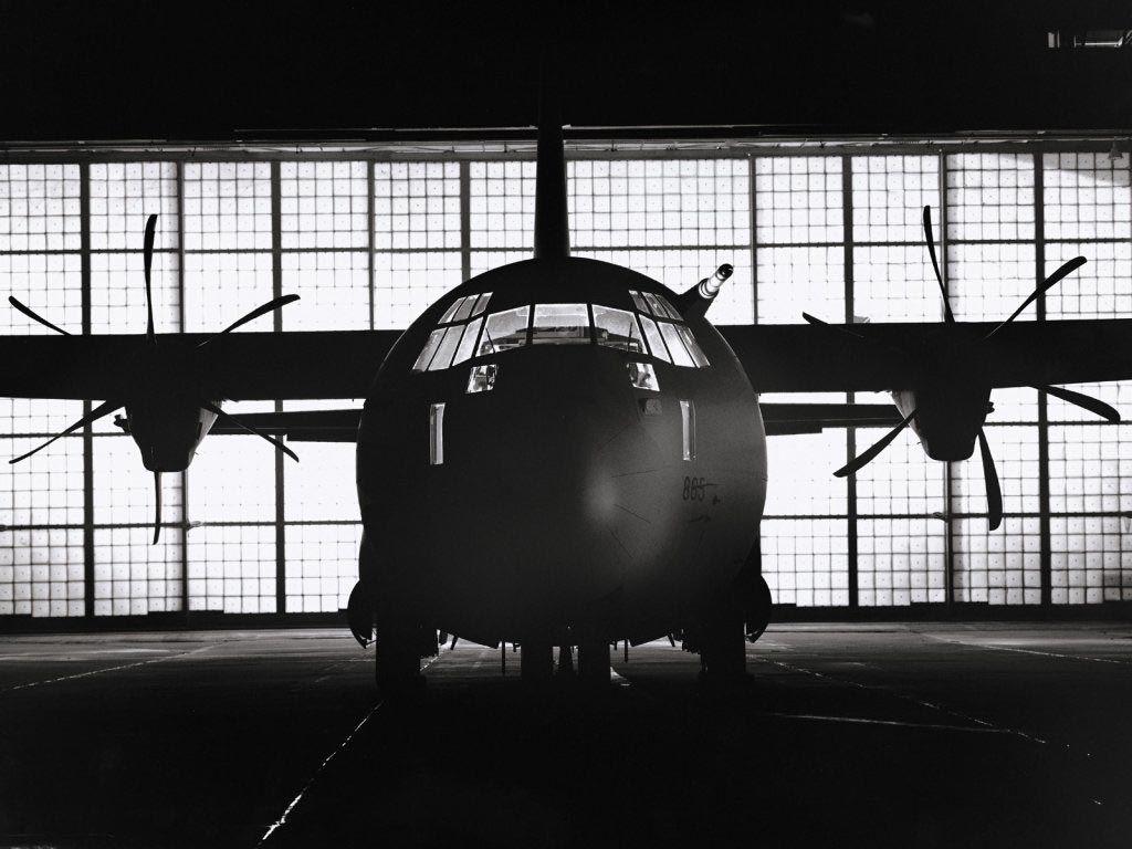 Aviation Plane In A Hangar