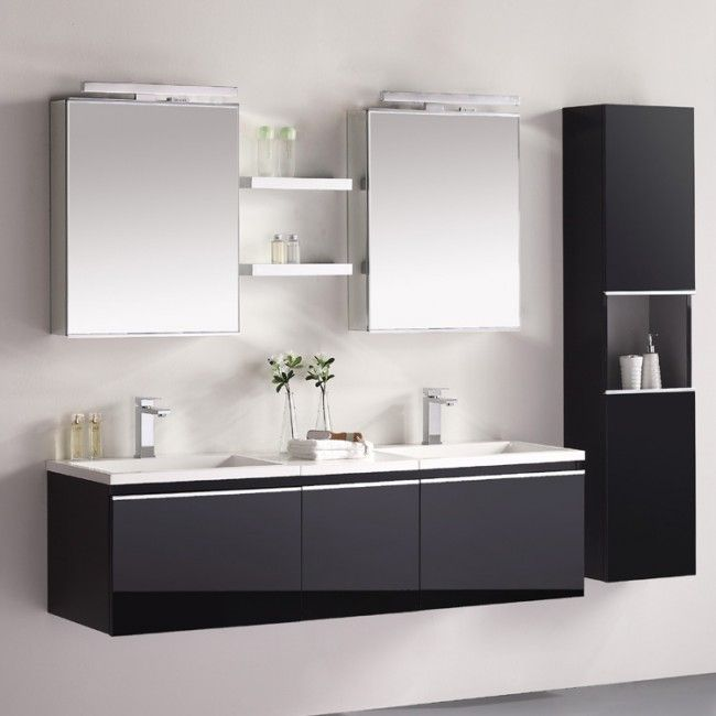 eago design unterschrank milano me 1600 schwarz. Black Bedroom Furniture Sets. Home Design Ideas