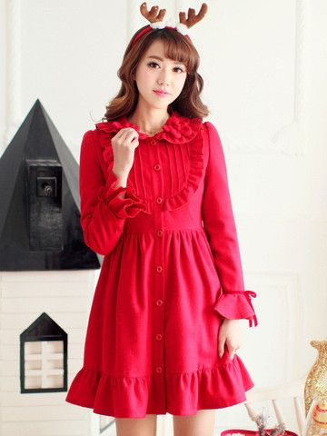 cherry coat $68 #asianicandy #cutefashion #asianfashion #japanese #kstyle #kawaii #sweet