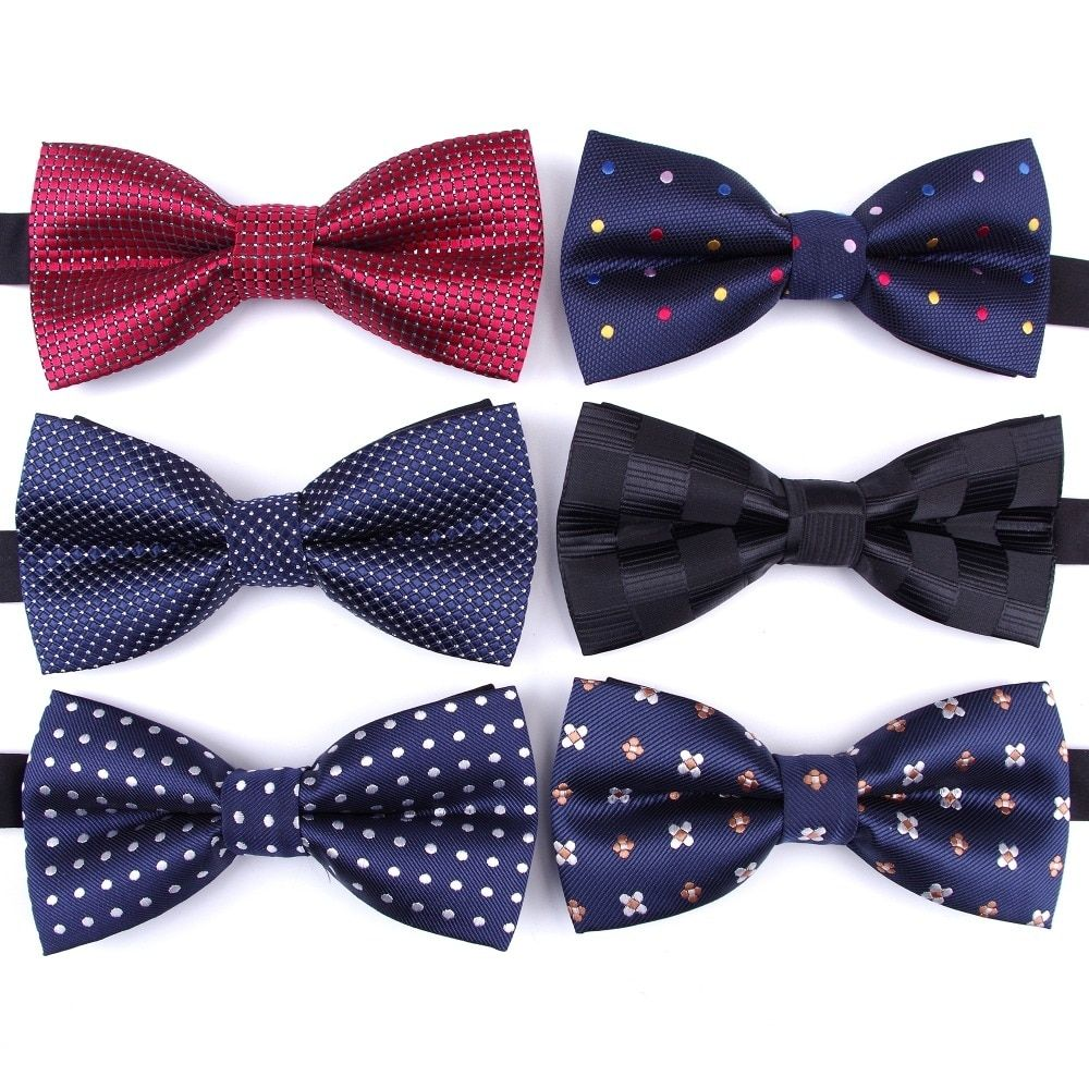 Men/'s Pre-tied Bow Tie /& hankie set lavender black dots pattern formal prom
