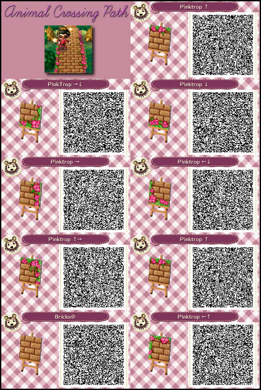 Animal Crossing New Leaf Qr Code Paths Pattern Photo Qr Codes