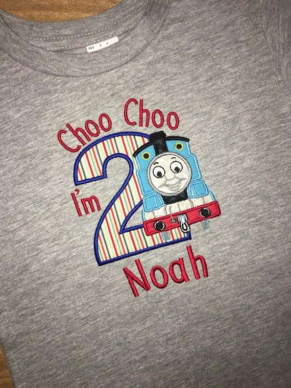 Boys Birthday Thomas The Train Inspired Shirt Can
