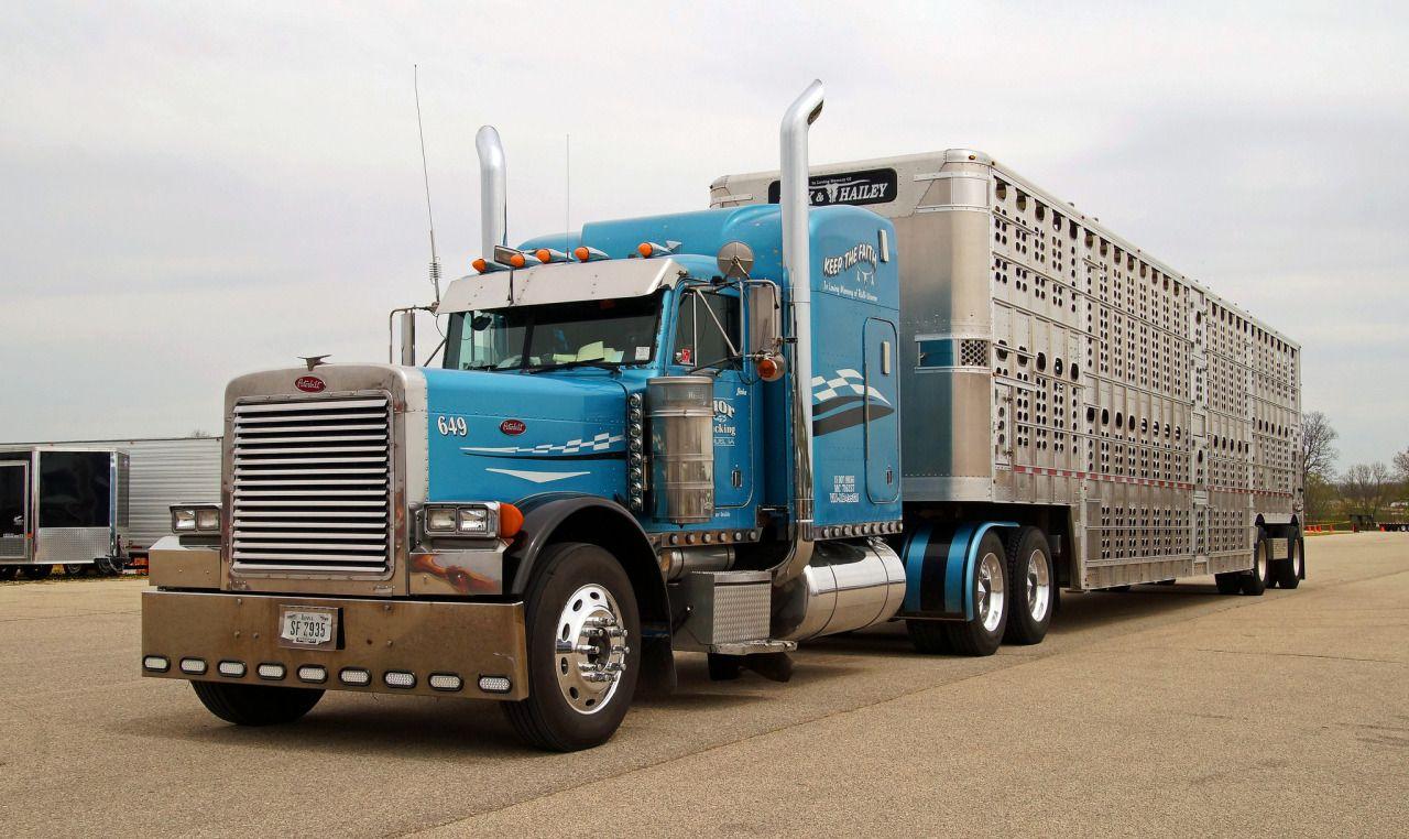 ✿✿Peterbilt custom 379 Bull hauler