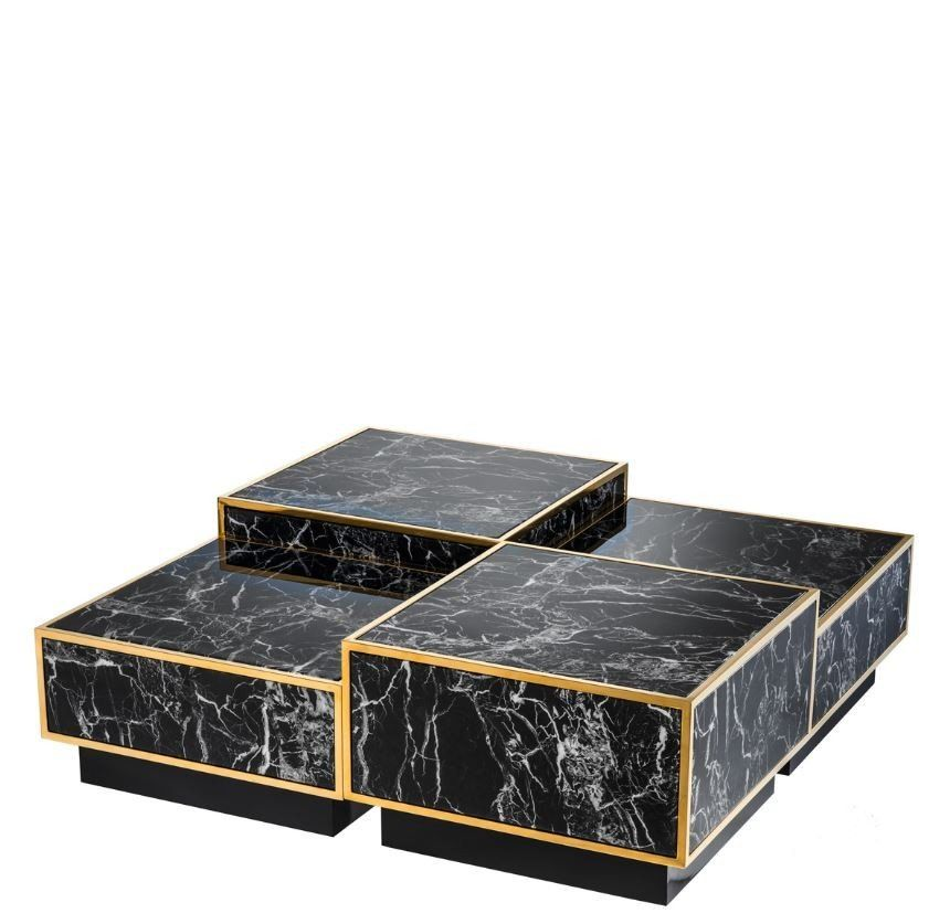 Concordia Gold Coffee Table Set Of 4 Cube Coffee Table Coffee