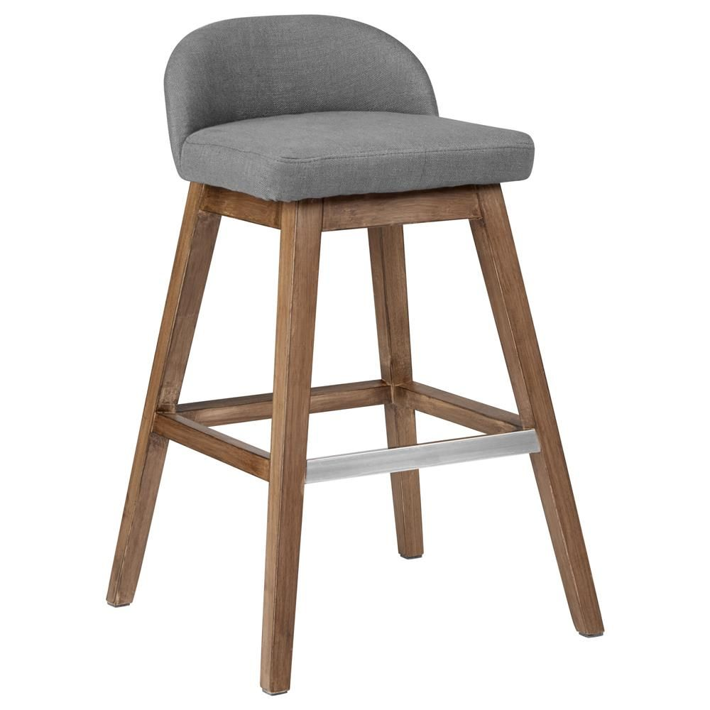 Fabric Kitchen Stools: Fabric Counter Stool With Wood Legs/Bar & Counter Stools