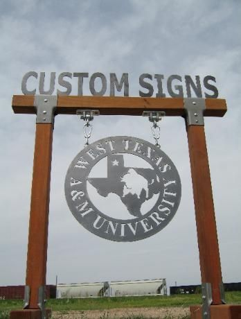 American Metal Arts Ranch And Business Signs With Images