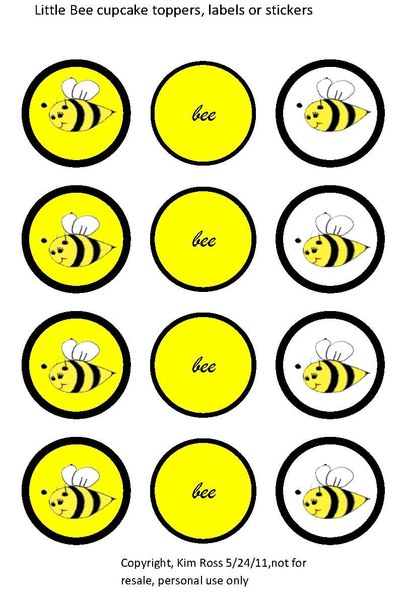 Tea Time Parties Cupcakes Free Little Bee Party Printables Bee Party Bee Printables Bumble Bee Birthday