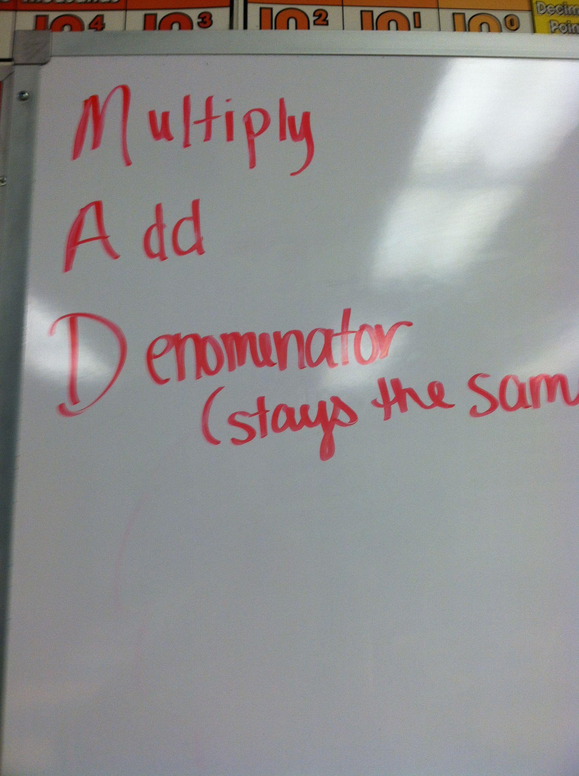 Improper fractions acronym