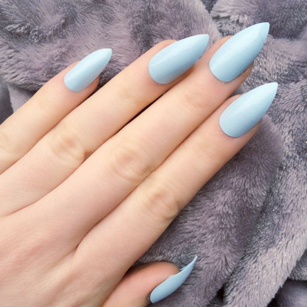 Light Blue Nails Pictures Nails Update Image Lilac Nails Blue Stiletto Nails Red Wedding Nails