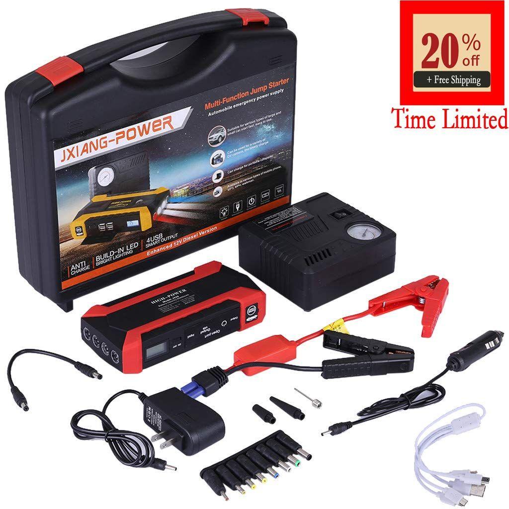 Portable Car Jump Starter Battery Pack 1000 Amp Peak 12V