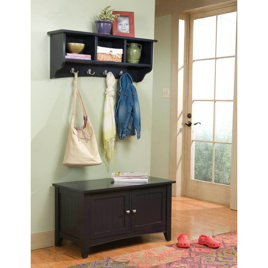 Alaterra Shaker Cottage Storage Bench And Coat Rack Set