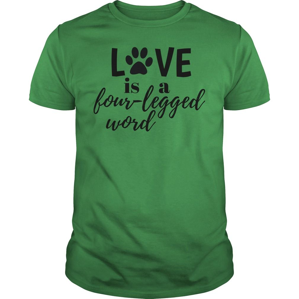 Love is a fourlegged word wear this paw print design to